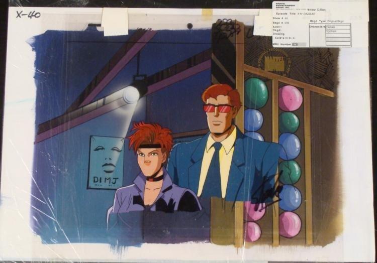 Animation Signed Cel X-MEN Original Stan Lee Background