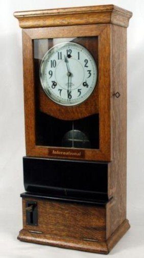 International Time recording Machine Clock