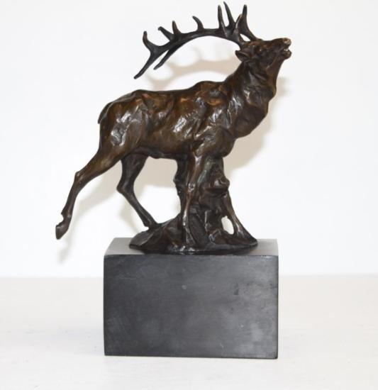 Proud Elk Bronze Sculpture After Milo