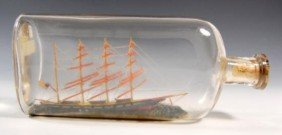 Ship in a Bottle - Circa 1910
