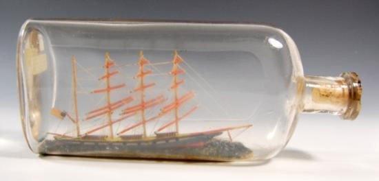 Ship in a Bottle - Circa 1910