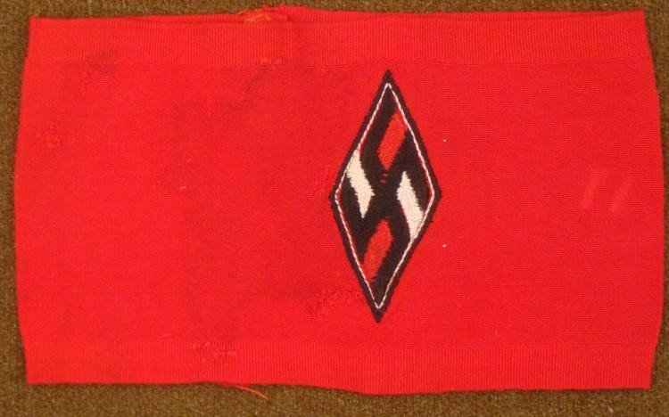 NAZI HITLER YOUTH ARMBAND REPRODUCTION