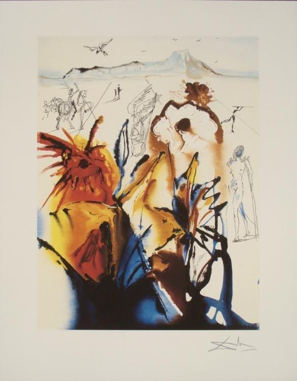 Salvador Dali : Diamond Head Surrealistic Art Print
