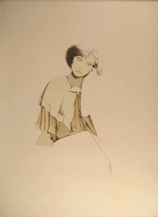 Christine Rosamond Signed Art Print Woman 1976
