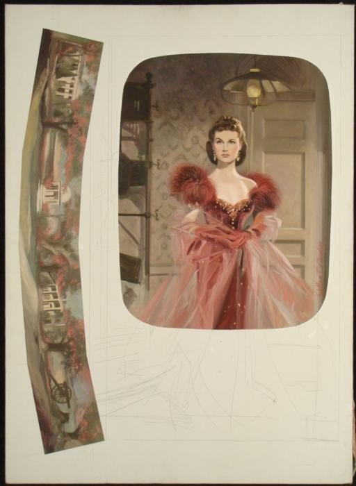 Chambers Civil War  Orig Gone With The Wind Painting