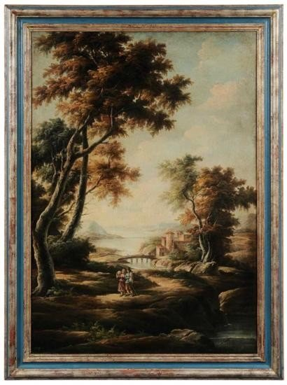 MWF1324 Italianate Landscape signed lower right ~Salva