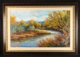 G Wilhelm Large Original Oil Painting Durango Colorado
