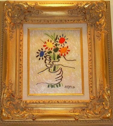 Bouquet Enamel 8 x 10 Done by Max Karp after Picasso