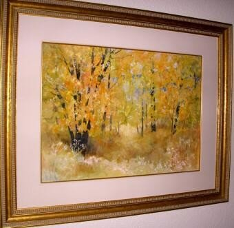 Oak Creek In Fall By Elizabeth Welsh OriginalWatercolor