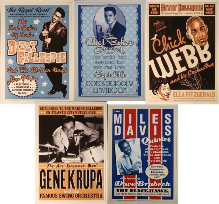 5 Jazz Concert Repro Posters Ella Davis Gillespie Web