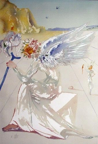 Helen of Troy-Original Color Lithograph S/N DALI