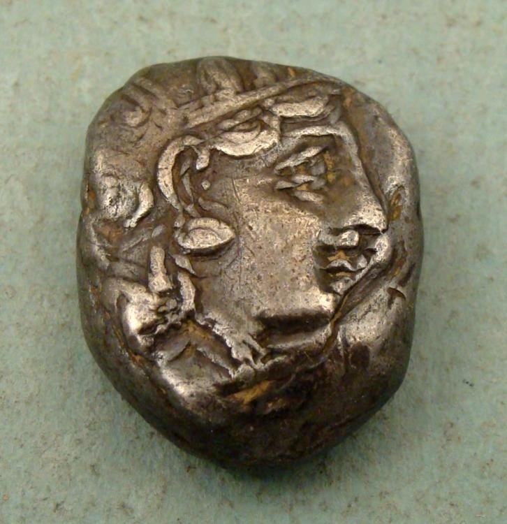 Silver Greek Tatradrachm Coin -Athens, Attica