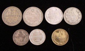 7 Diff Early Date Russian Kopek Coins 1910-1963