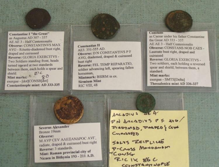 5 Roman Ancient Coins Severus Alexander Constans