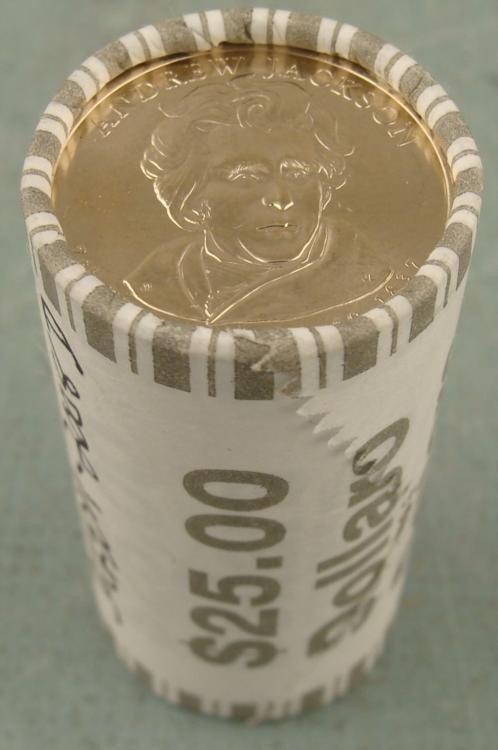 1 Bank Roll 2007-P UNC Jefferson Presidential Dollars