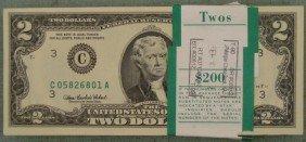 100 Consec $2 Philadelphia BankWrapped Notes CU 2003 A