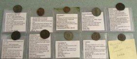 10 Roman Ancient Coins- Nicomedia, Severus, Claudius