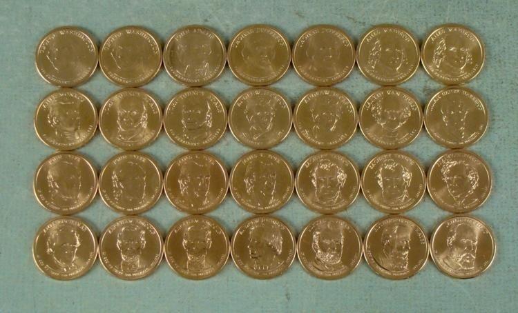 28 Coin Presidential Dollar Set GEM UNC 2007-2011