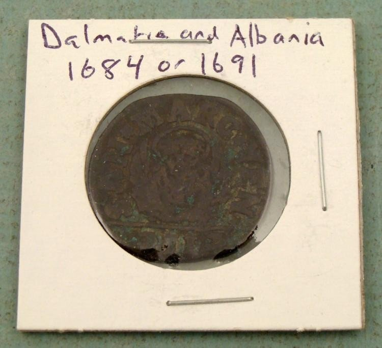 Coin From Dalmatia & Albania 1864 or 1691