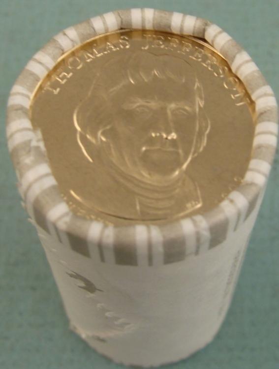 1 Bank Roll 2007-D UNC Jefferson Presidential Dollars