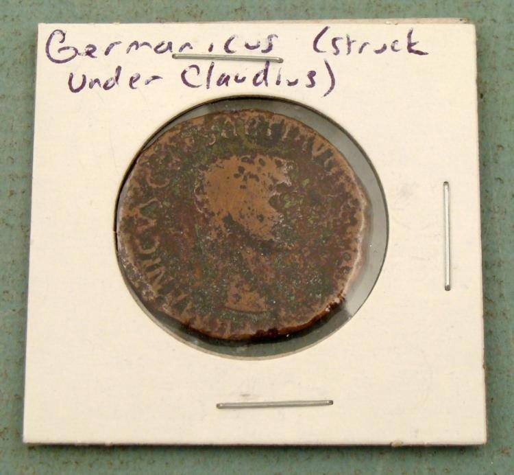 Germanicus Large Bronze Roman Coin Claudius I Era