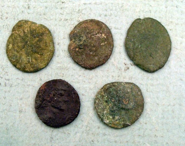 5 Ancient Roman Coins Divus Claudius II Gothicus, Anton