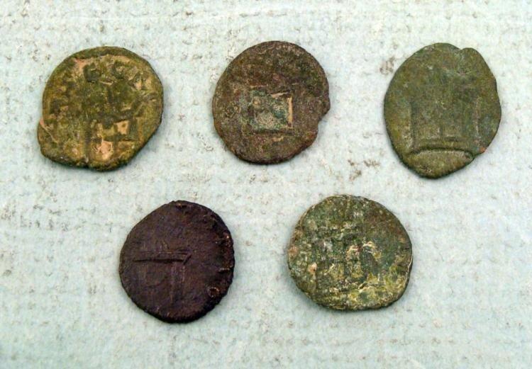 5 Ancient Roman Coins Divus Claudius II Gothicus, Anton - 2