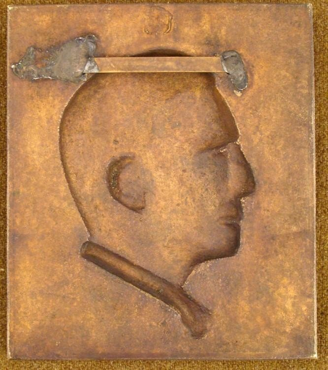 ORIGINAL NAZI PERIOD BRASS PLAQUE OF HERMANN GOERING - 3