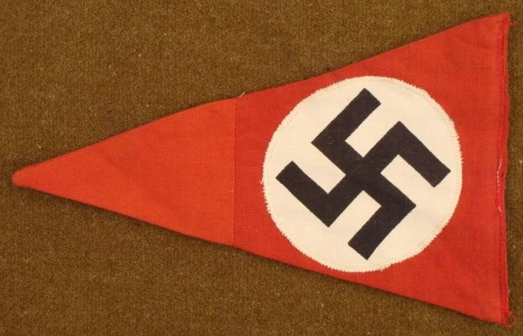 WWII ORIG NAZI PENNANT-MULTI-PIECE-EARLY-NR. MINT - 2