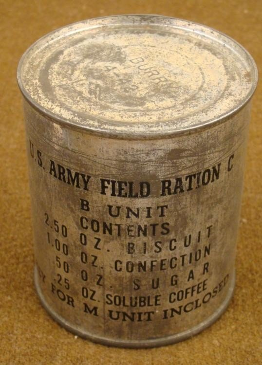 WWII U.S. ARMY CAN OF SWEET RATIONS DATED 4-42 UNOPENED