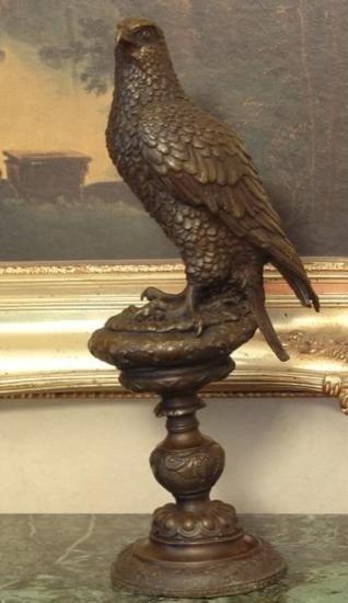 Excellent Bronze Sculpture Falcon