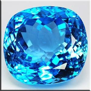 IMMACULATE VVS 116.74 Ct LONDON BLUE NATURAL TOPAZ CUSH