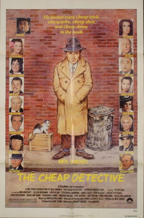 Cheap Detective Original 1 Sh Movie Poster Peter Falk