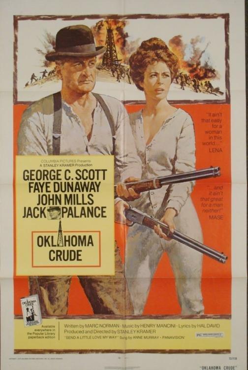 Oklahoma Crude Original 1 Sh Movie Poster Faye Dunaway