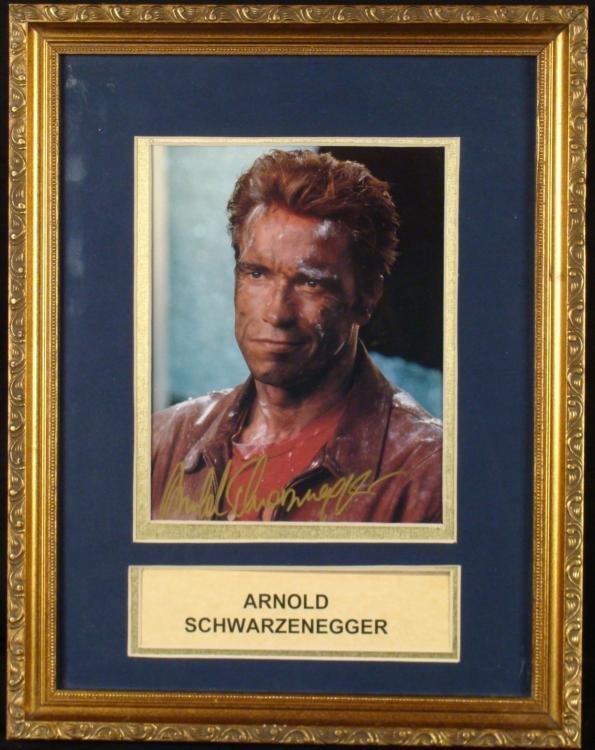 Arnold Schwarzenegger Signed Photo Framed