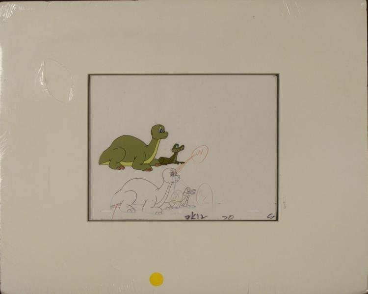 Dink the Dinosaur Original Production Cel & Drawing