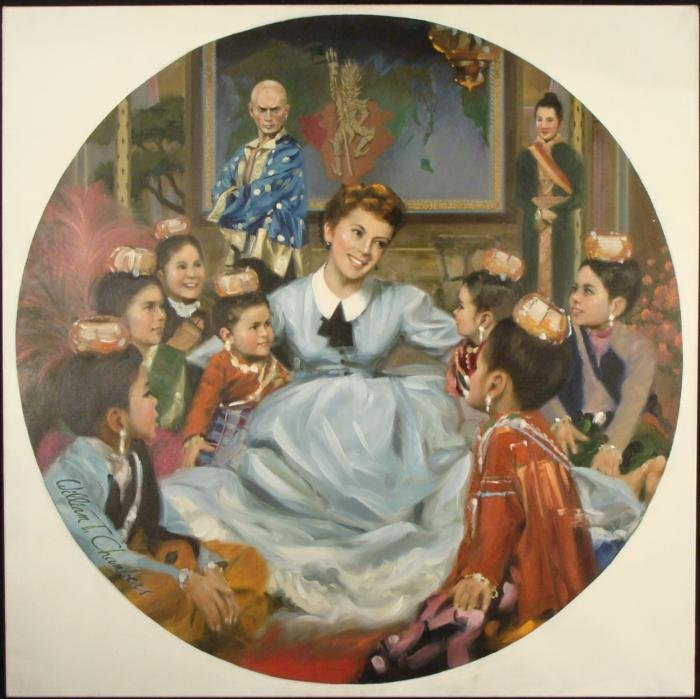 William Chambers Original Painting from The King and I