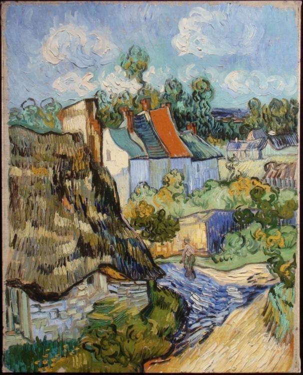 House at Auvers Art Print Vincent Van Gogh On Canvas