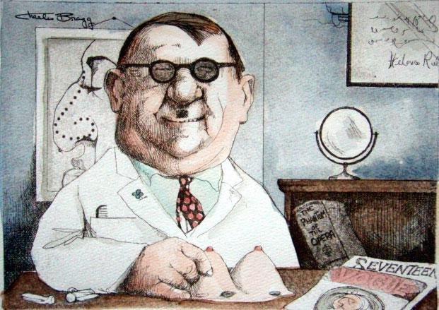 Charles Bragg Signed Medical Art Print Plastic Surgeon