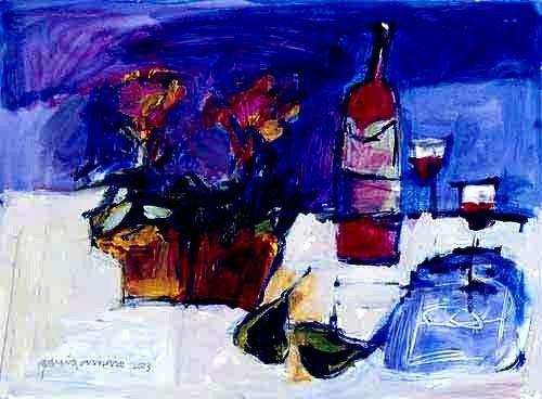 Cecilia Garcia Amaro Signed Art Print Peras al Merlot