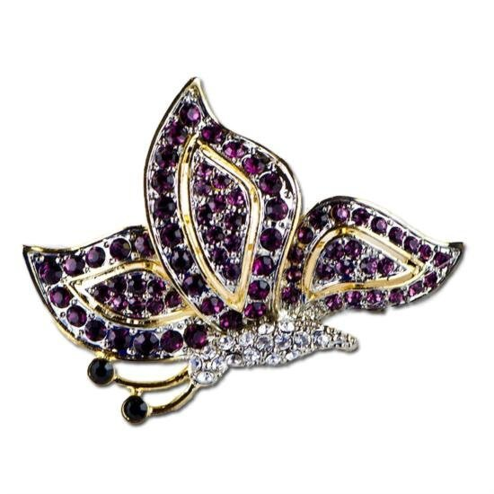 Faberge Ruby Butterfly Brooch