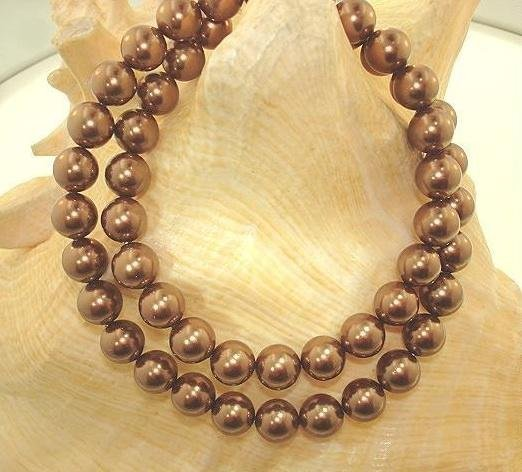 Splendid 8mm Tahitian Chocolate South Sea Shell Pearl N