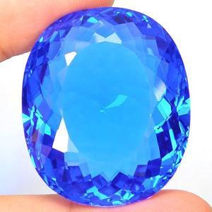 MAMMOTH 72.16 CT S OVAL CUT SWISS BLUE TOPAZ MWF1812
