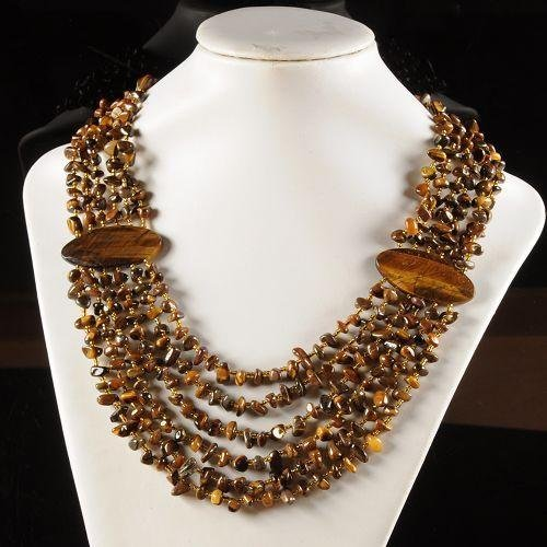 Splendid Golden Tiger Eye Necklace Measures