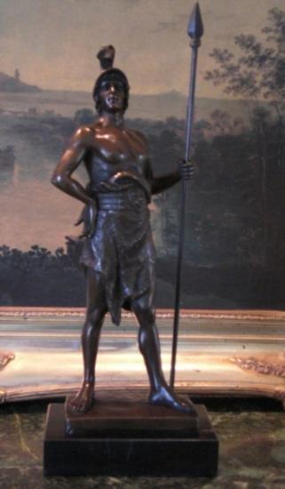 Magnificent Bronze Sculpture Renaissance Warrior