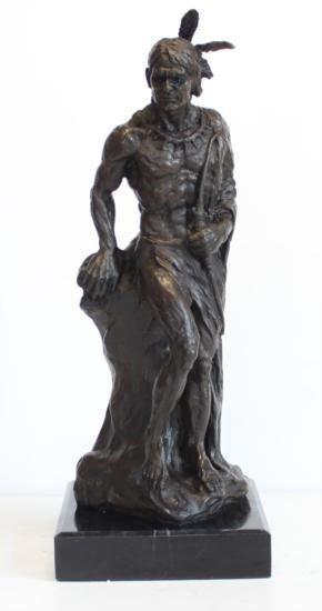 Magnificent Bronze Sculpture Geronimo Indian Chief