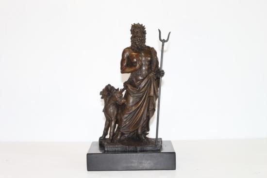 Marvelous Bronze Sculpture Hades God of the Underword