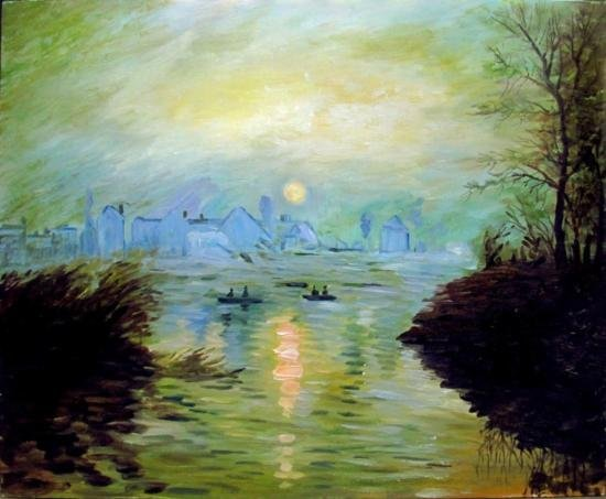 After Claude Monet Oil on Plank