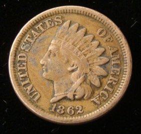 Hi Grade 1862 Indian Cent -Full Liberty, Good Detail