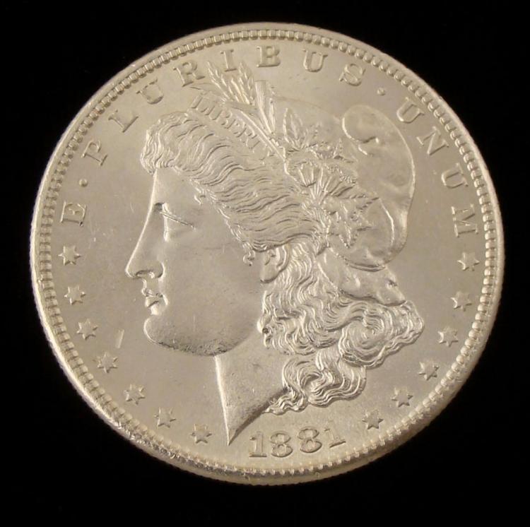 Gem UNC 1881-S Morgan Silver Dollar -It s a Beauty